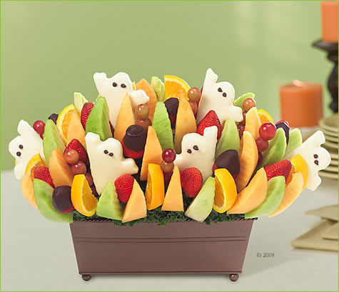 Ghost Festival with Half of the Strawberries Dipped in Chocolate | Edible Arrangements®