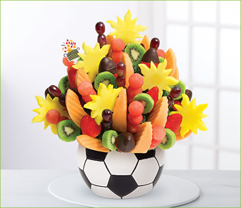 Watermelon Kiwi Soccer Bouquet<br>وترميلون كيوي كرة قدم بوكيه | Edible Arrangements®