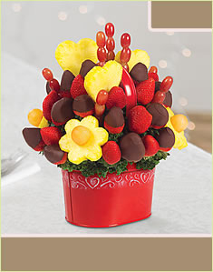 Berry Chocolate Bouquet In Red Container