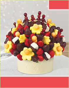 Berry Chocolate Bouquet  Dipped Bananas