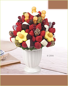 Chocolate Banana Bouquet® with Dipped Dates and Nuts