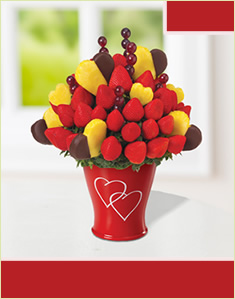 Hearts & Berries with Dipped Hearts